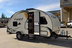 Item 2114 2013 R Pod Model 182 Travel Trailer By Forest River Featuring 135 BTU A C Convection Microwave LCD TV Dome Awning W Screen Room
